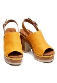 Refresh - Sandały REFRESH - 72712 Amarillo. Okazja: na spacer. Kolor: żółty. Materiał: skóra ekologiczna, materiał. Sezon: lato