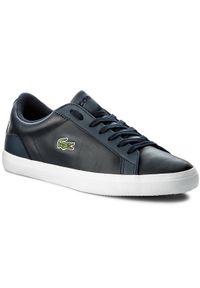 Lacoste Sneakersy Lerond Bl 1 Cam 7-33CAM1032003 Granatowy. Kolor: niebieski