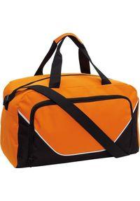 PELLUCCI Torba sportowa, JORDAN, Czarny / Pomarańczowy uniwersalny. Kolor: pomarańczowy, czarny, wielokolorowy