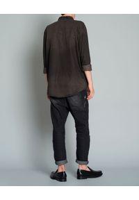 ONETEASPOON - Jeansowa koszula. Kolor: czarny. Materiał: jeans. Długość rękawa: długi rękaw. Długość: długie