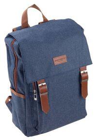 ROVICKY - Plecak męski granatowy Rovicky NB0985-4504 NAVY. Kolor: niebieski. Materiał: materiał. Styl: sportowy, elegancki, retro