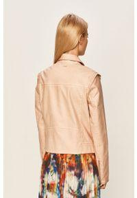 Różowa kurtka Pepe Jeans bez kaptura, casualowa