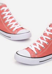 Renee - Pomarańczowe Trampki Kelapheu. Nosek buta: okrągły. Zapięcie: sznurówki. Kolor: pomarańczowy. Materiał: materiał, guma. Szerokość cholewki: normalna. Wzór: aplikacja. Obcas: na płaskiej podeszwie. Styl: klasyczny #5