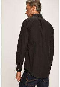 Polo Ralph Lauren - Koszula. Typ kołnierza: polo. Kolor: czarny. Materiał: tkanina