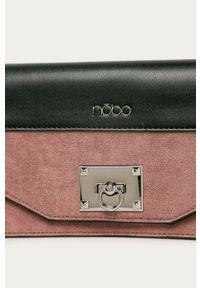 Różowa kopertówka Nobo na ramię, zamszowa