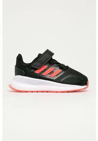 Czarne buty sportowe Adidas z cholewką, na rzepy