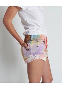 ONETEASPOON - Spodenki Rainbow Bandits. Stan: podwyższony. Kolor: niebieski. Materiał: jeans. Wzór: aplikacja #3