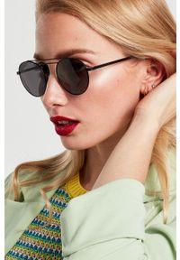 Hawkers - Okulary N9. Kształt: okrągłe. Kolor: czarny