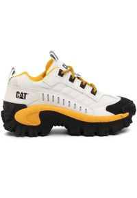 CATerpillar - Sneakersy CATERPILLAR - Intruder P723902 Star White. Okazja: na co dzień. Kolor: biały. Materiał: skóra, materiał. Szerokość cholewki: normalna. Sezon: lato. Styl: sportowy, elegancki, casual