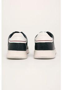 Niebieskie sneakersy Geox z cholewką, na sznurówki, z okrągłym noskiem