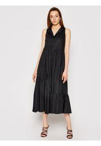 TwinSet Sukienka codzienna 211TT2458 Czarny Regular Fit. Okazja: na co dzień. Kolor: czarny. Typ sukienki: proste. Styl: casual