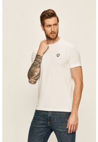EA7 Emporio Armani - T-shirt. Kolor: biały. Materiał: dzianina
