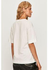 Biała bluzka Sportmax Code casualowa, na co dzień, z okrągłym kołnierzem