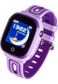 Fioletowy zegarek Garett Electronics smartwatch