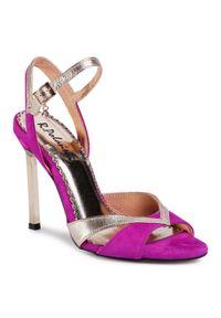 Fioletowe sandały R.Polański klasyczne