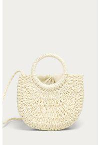 Kremowa torba plażowa ANSWEAR mała, na ramię, wakacyjna