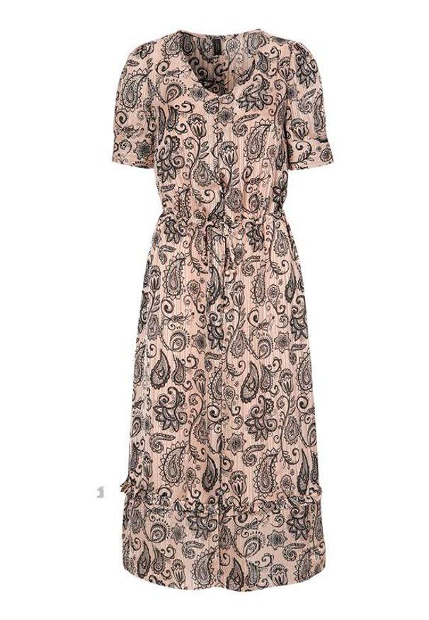 Soyaconcept Wzorzysta sukienka żakardowa Kira jasnoróżowy we wzory female różowy/ze wzorem S (38). Kolor: różowy. Materiał: żakard