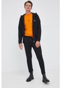 United Colors of Benetton - Spodnie. Kolor: czarny. Materiał: dzianina