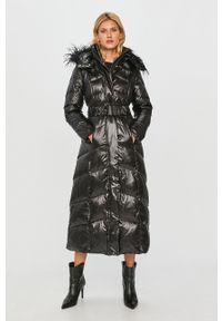 Czarna kurtka TwinSet z kapturem, klasyczna