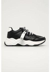 Czarne buty sportowe Answear Lab z okrągłym noskiem, z cholewką