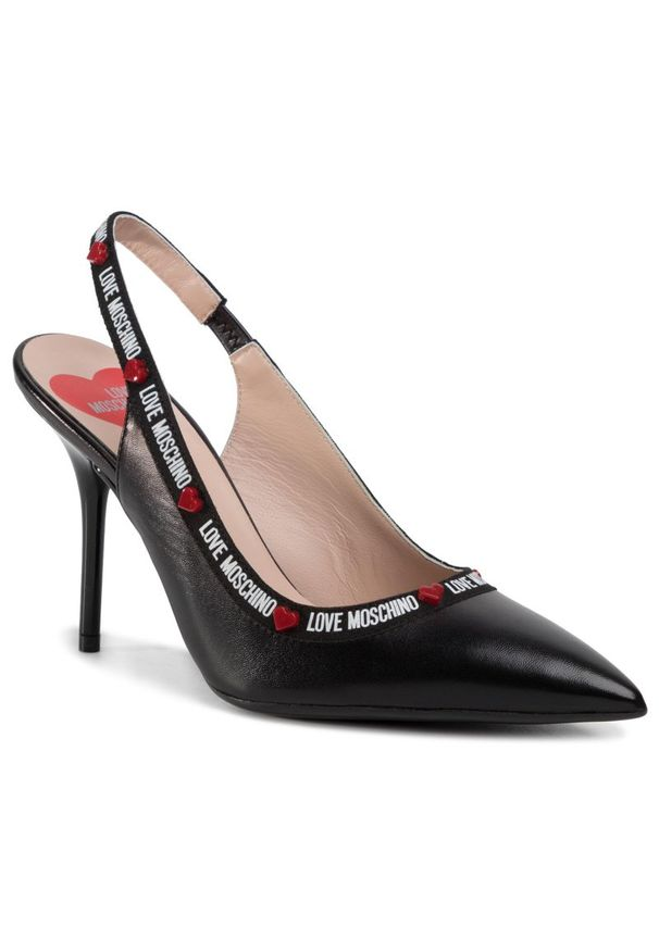 Czarne sandały Love Moschino