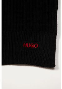 Czarny szalik Hugo