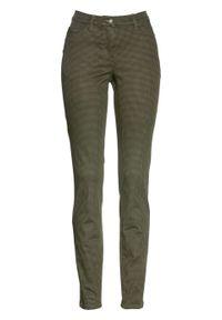 Zielone spodnie bonprix z nadrukiem