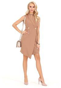 Sukienka Merribel asymetryczna, bez rękawów