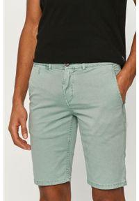 Turkusowe szorty Pepe Jeans na co dzień, gładkie, casualowe