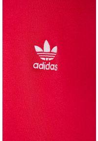 Różowa bluza rozpinana adidas Originals raglanowy rękaw, bez kaptura, z aplikacjami