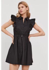 Czarna sukienka Patrizia Pepe na co dzień, gładkie, bez rękawów