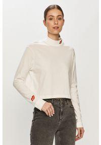 Nike Sportswear - Longsleeve. Kolor: biały. Materiał: dzianina. Długość rękawa: długi rękaw. Wzór: nadruk