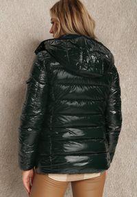Renee - Ciemnozielona Kurtka Meganthe. Kolor: zielony. Materiał: tkanina, skóra. Wzór: aplikacja. Sezon: jesień, zima