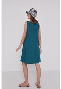 medicine - Medicine - Sukienka Essential. Kolor: zielony. Materiał: tkanina. Długość rękawa: na ramiączkach. Wzór: gładki
