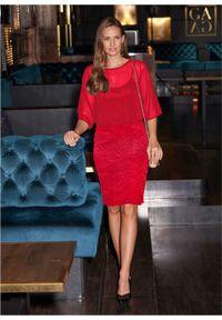 Czerwona sukienka bonprix wizytowa