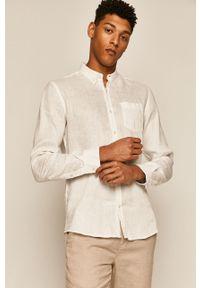 Biała koszula medicine na co dzień, długa, z klasycznym kołnierzykiem, klasyczna