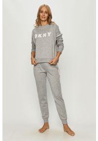 Szara piżama DKNY z aplikacjami