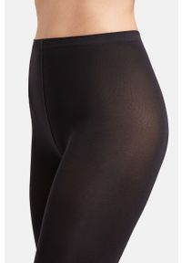 Czarne legginsy Wolford gładkie, z podwyższonym stanem