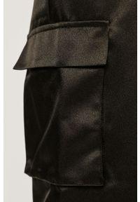 Czarne spodnie materiałowe only casualowe, z podwyższonym stanem, na co dzień