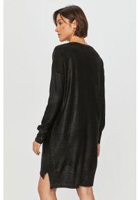 Czarny sweter Answear Lab wakacyjny, długi