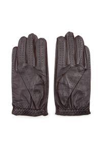 Brązowe rękawiczki Wittchen eleganckie, z aplikacjami