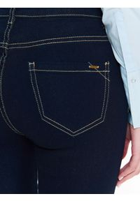 Niebieskie spodnie TOP SECRET na co dzień, długie, casualowe, na wiosnę