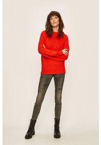 Czerwony sweter only raglanowy rękaw