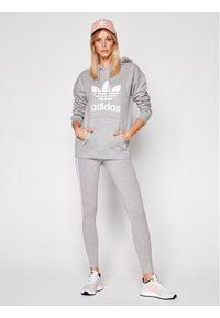 Adidas - adidas Bluza Trefoil FM3304 Szary Regular Fit. Kolor: szary