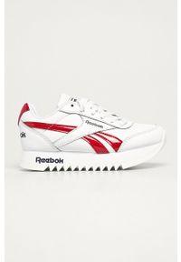 Białe buty sportowe Reebok Classic Reebok Royal, z cholewką, na sznurówki