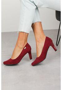 Czerwone czółenka Sergio Leone eleganckie