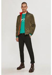 Miętowa bluza nierozpinana Pepe Jeans na co dzień, bez kaptura, casualowa, z nadrukiem #5