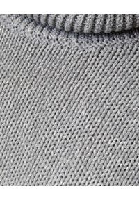 ONETEASPOON - Sweter z błyszczącą nicią. Okazja: do domu, na co dzień. Typ kołnierza: golf. Kolor: szary. Materiał: bawełna. Sezon: zima, jesień. Styl: casual