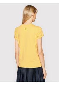 Marella T-Shirt Italia 39710312200 Żółty Regular Fit. Kolor: żółty