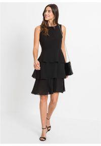 Czarna sukienka bonprix na lato, na imprezę